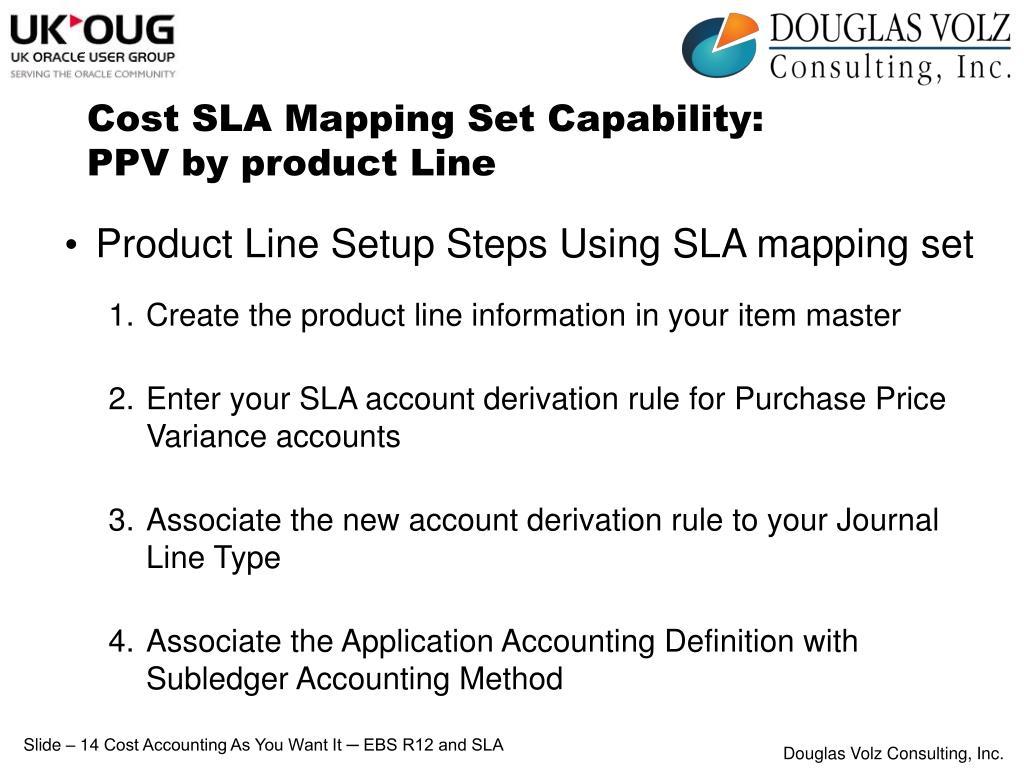 Cost SLA Mapping Set Capability: