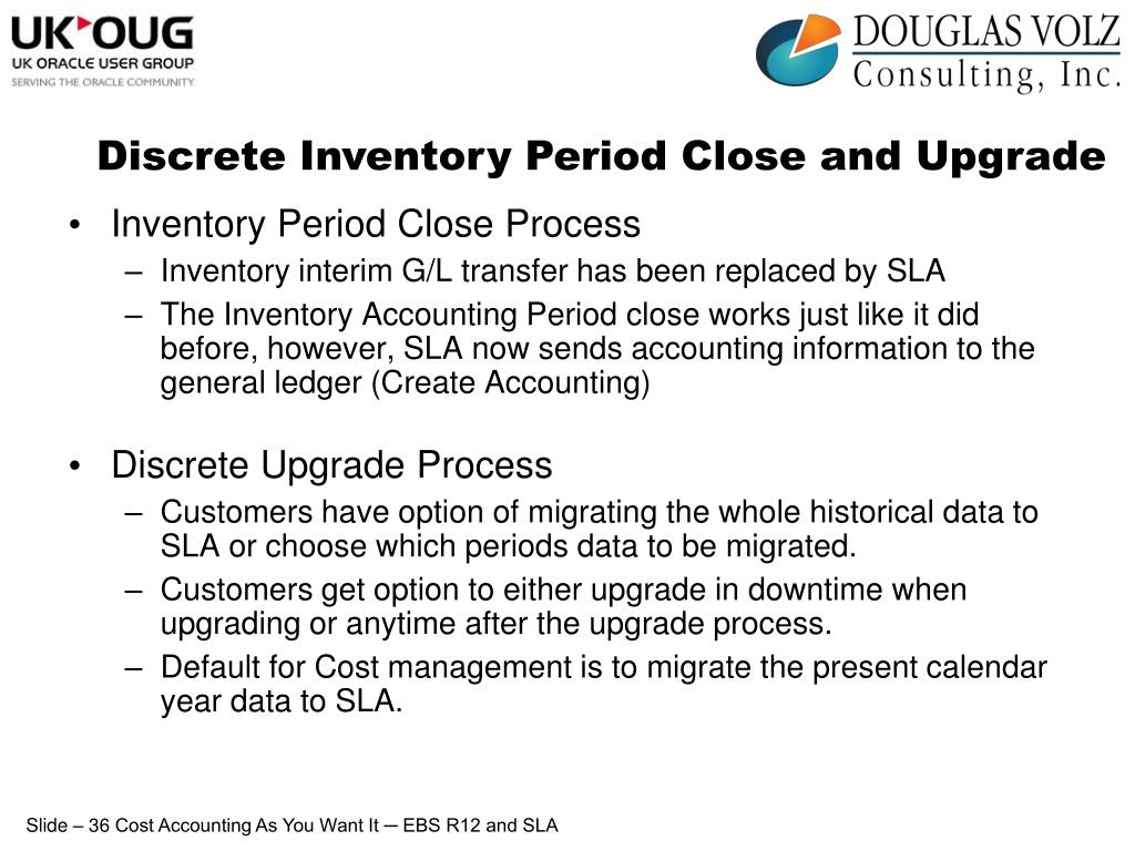 Discrete Inventory Period Close and Upgrade