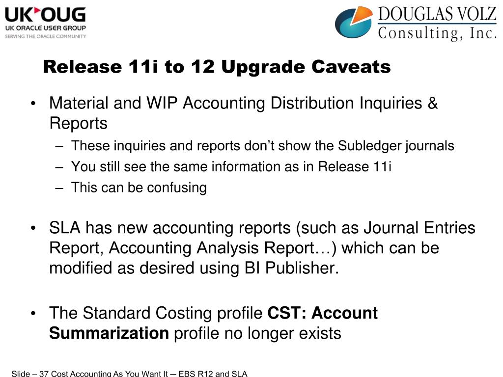 Release 11i to 12 Upgrade Caveats