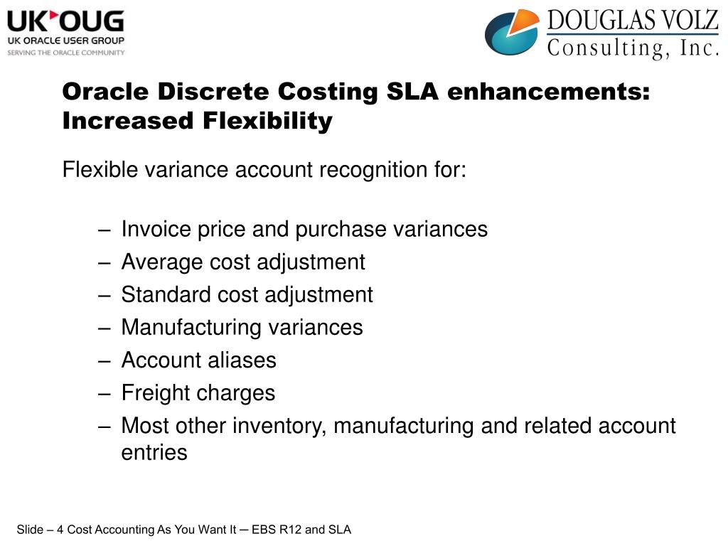 Oracle Discrete Costing SLA enhancements: