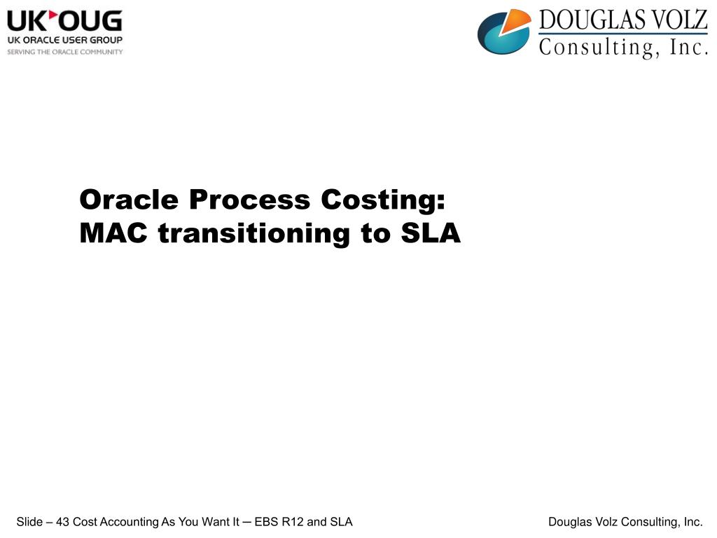 Oracle Process Costing: