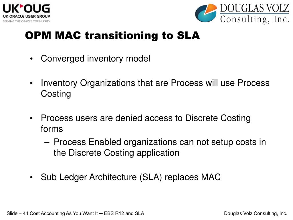 OPM MAC transitioning to SLA