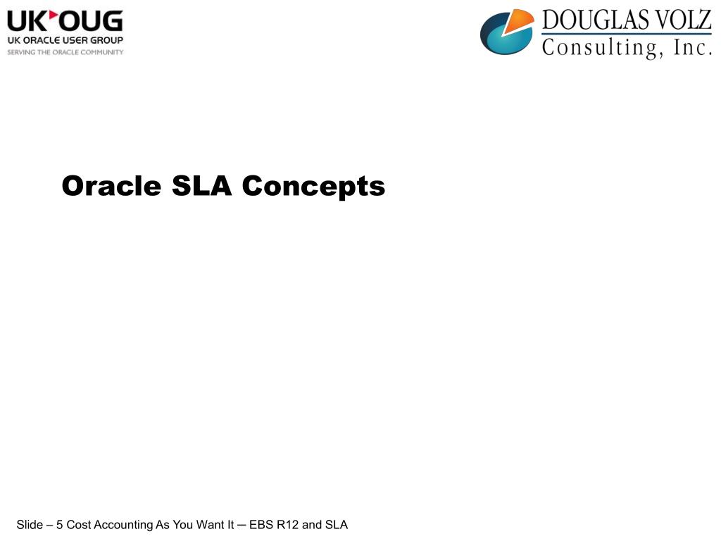 Oracle SLA Concepts