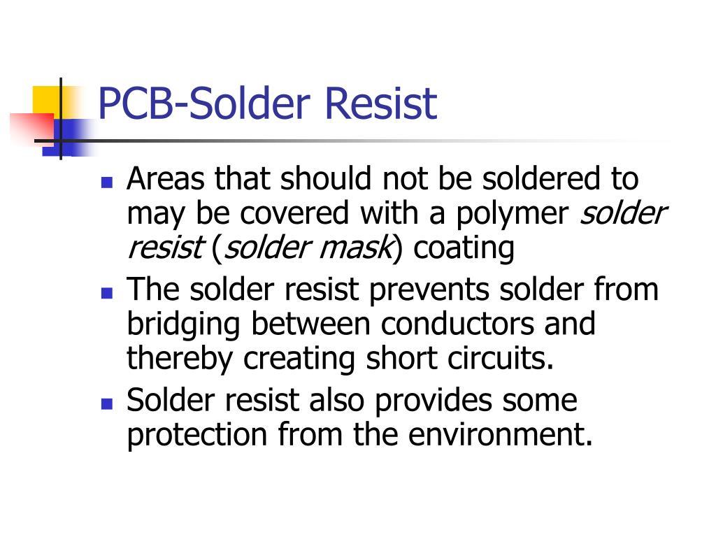 PCB-Solder Resist