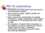 pmc for automotives