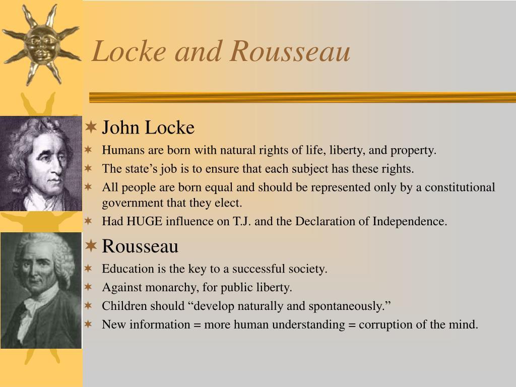 Locke and Rousseau