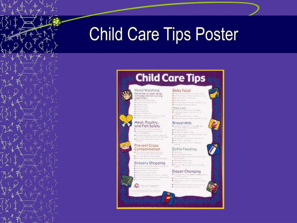 Child Care Tips Poster