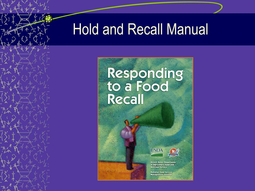 Hold and Recall Manual