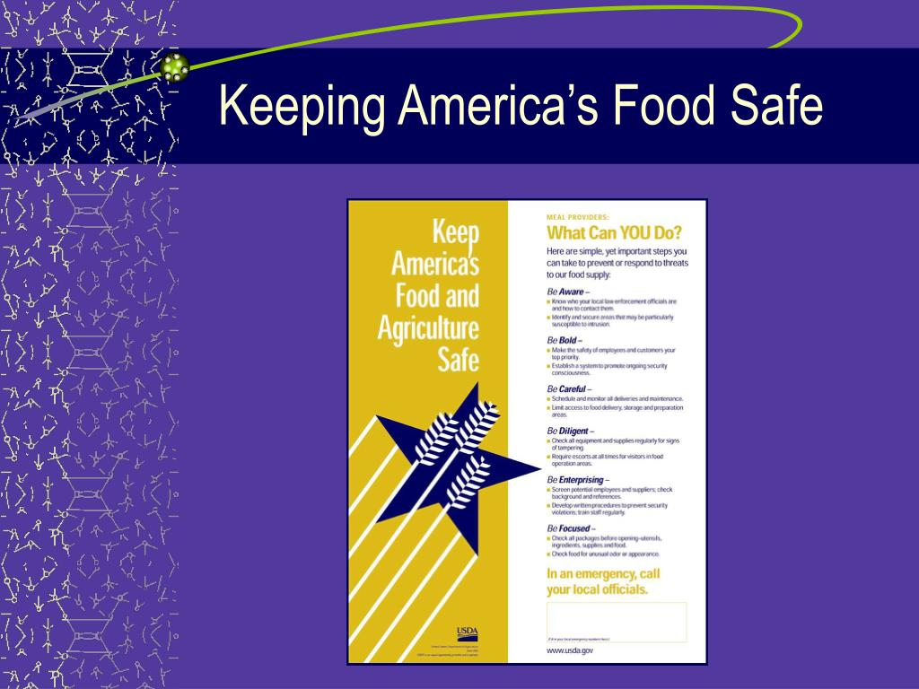 Keeping America's Food Safe