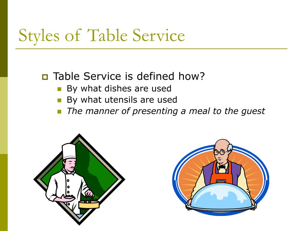 Styles of Table Service