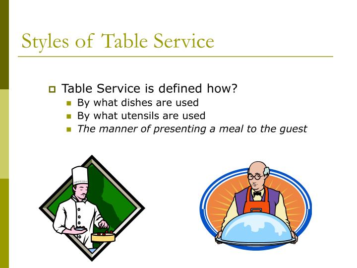 Styles of table service2