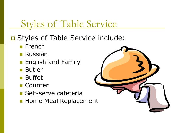 Styles of table service3