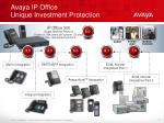 avaya ip office unique investment protection