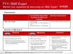 fy11 sme expert market your expertise by becoming an sme expert