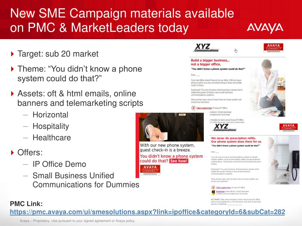 New SME Campaign materials available on PMC & MarketLeaders today