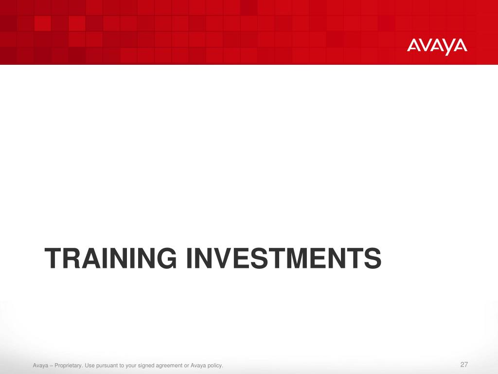 Training Investments