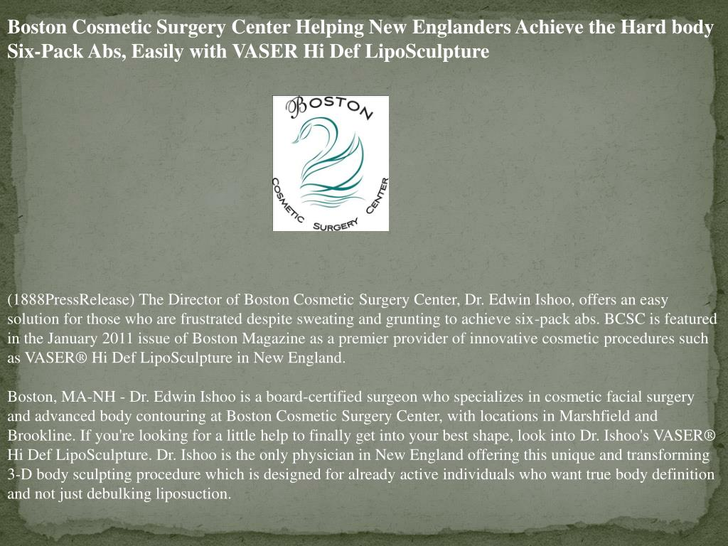 Boston Cosmetic Surgery Center Helping New Englanders Achieve the Hard body Six-Pack Abs, Easily with VASER Hi Def LipoSculpture