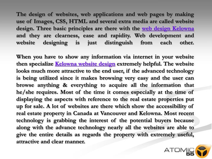 The design of websites, web applications and web pages by making use of Images, CSS, HTML and severa...