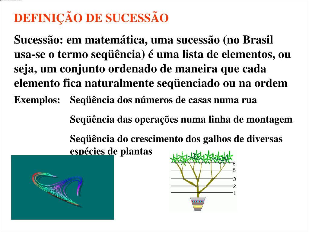 DEFINIÇÃO DE SUCESSÃO