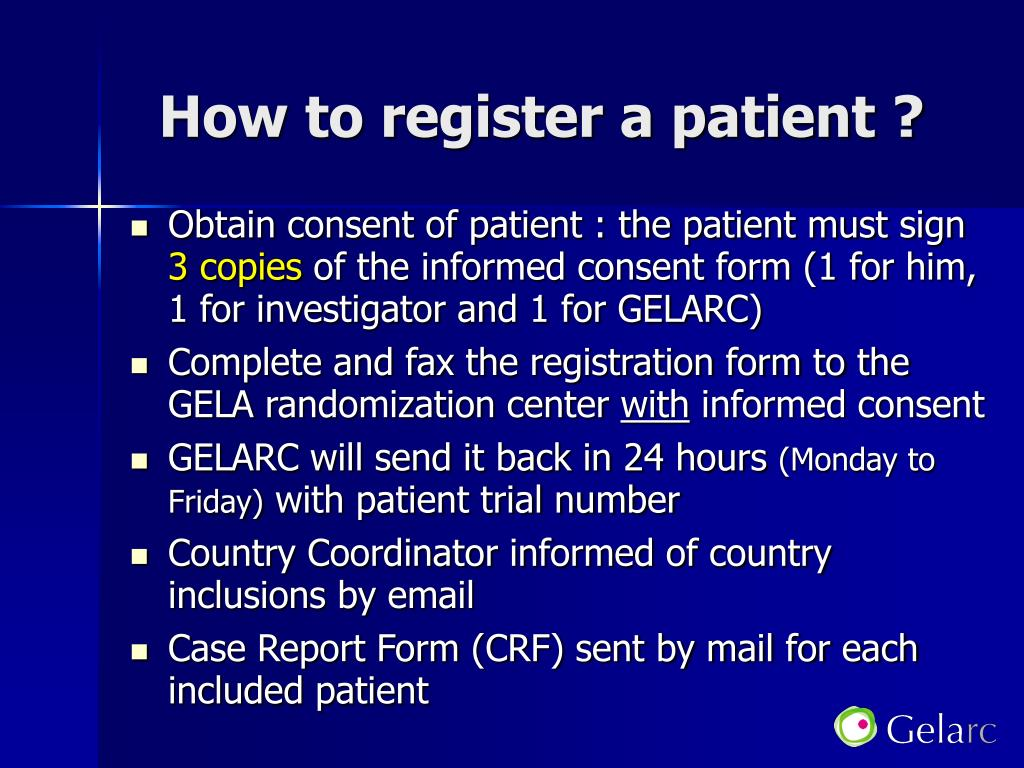 How to register a patient ?