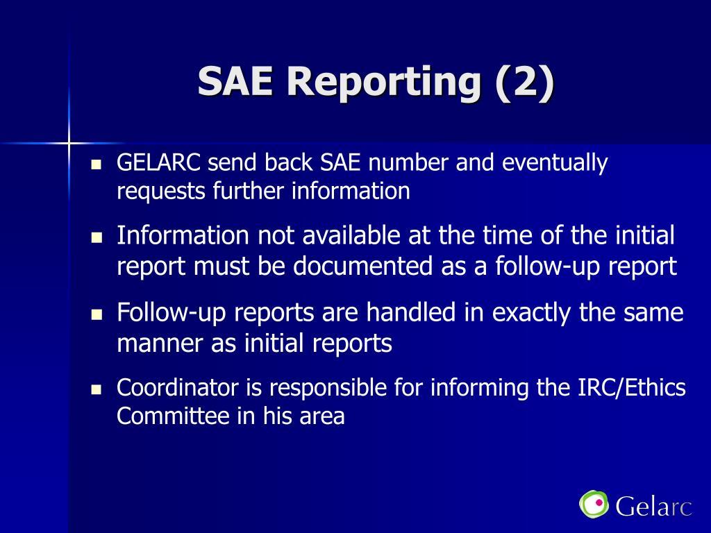 SAE Reporting (2)