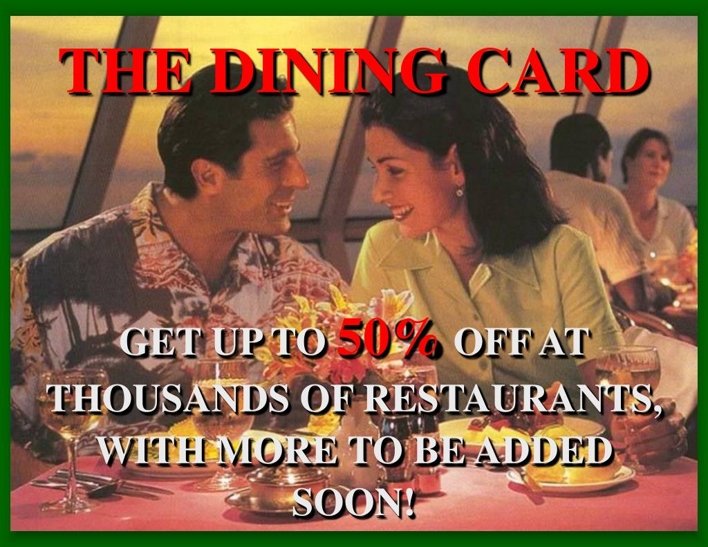 THE DINING CARD