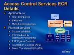 access control services ecr details