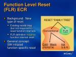 function level reset flr ecr