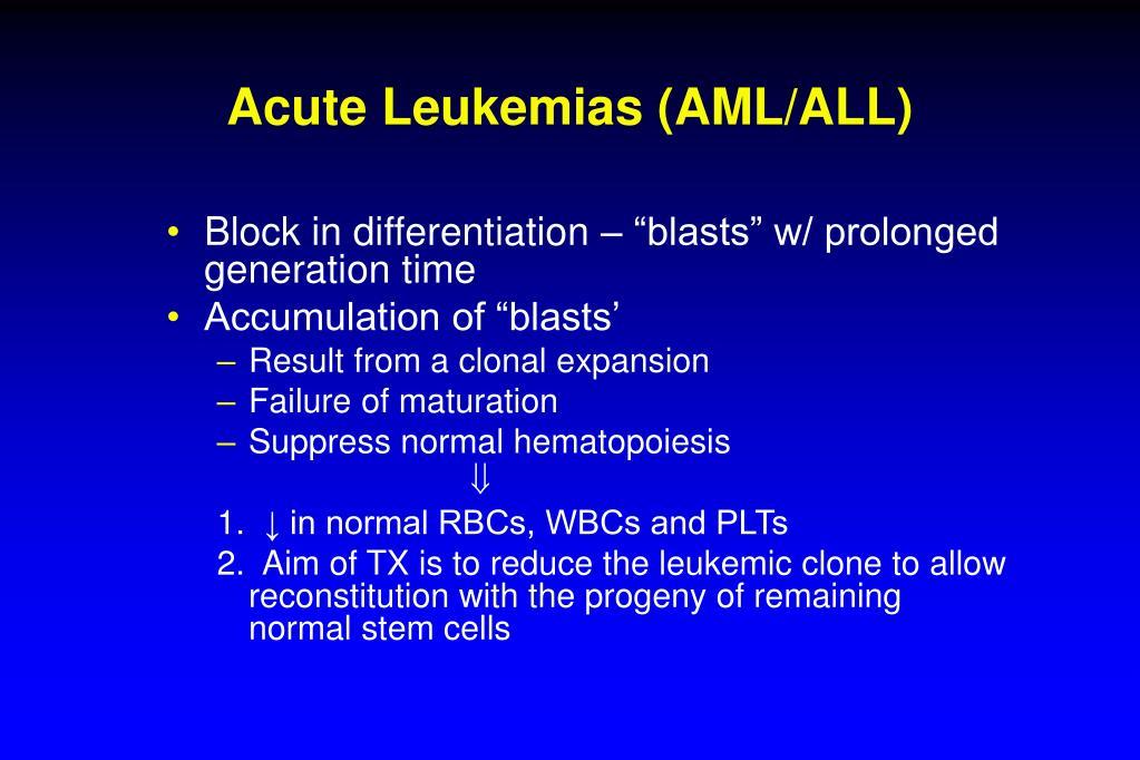 Acute Leukemias (AML/ALL)