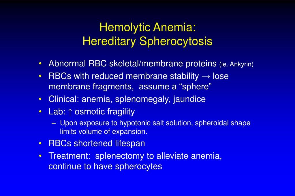 Hemolytic Anemia: