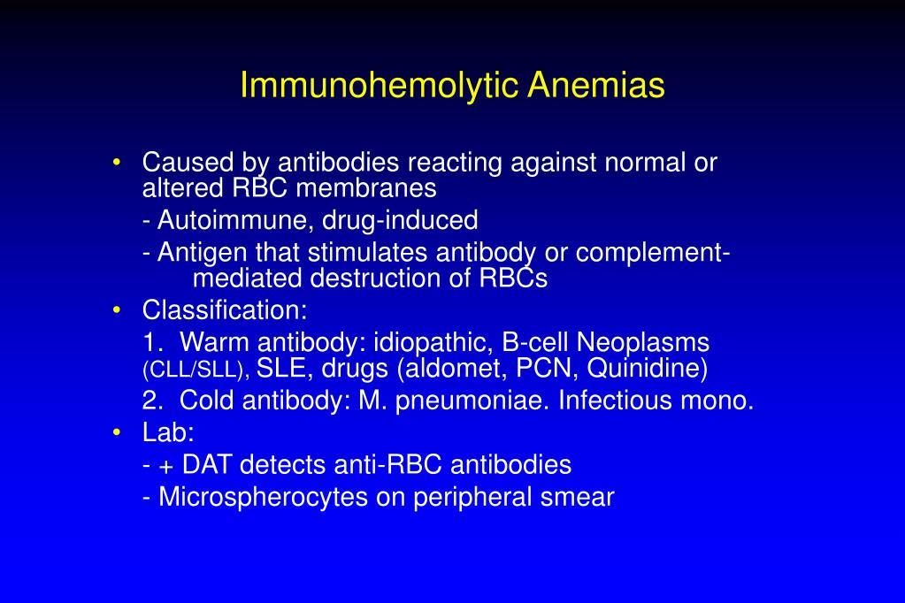 Immunohemolytic Anemias