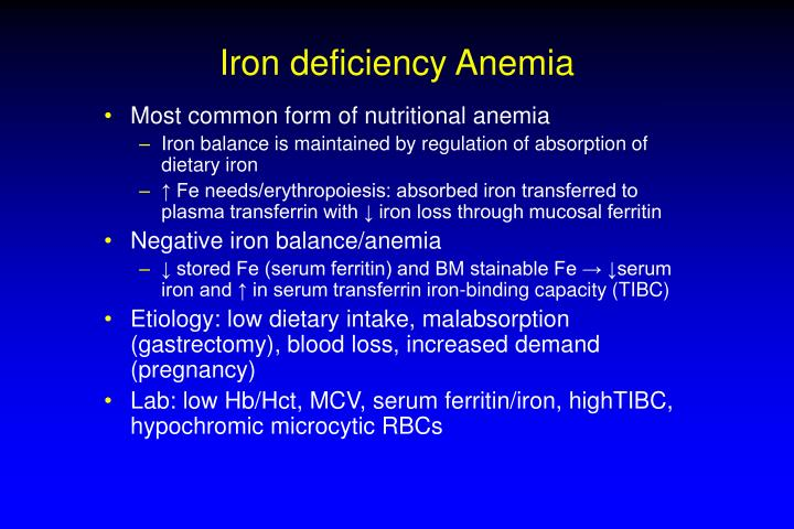 Iron deficiency anemia l.jpg