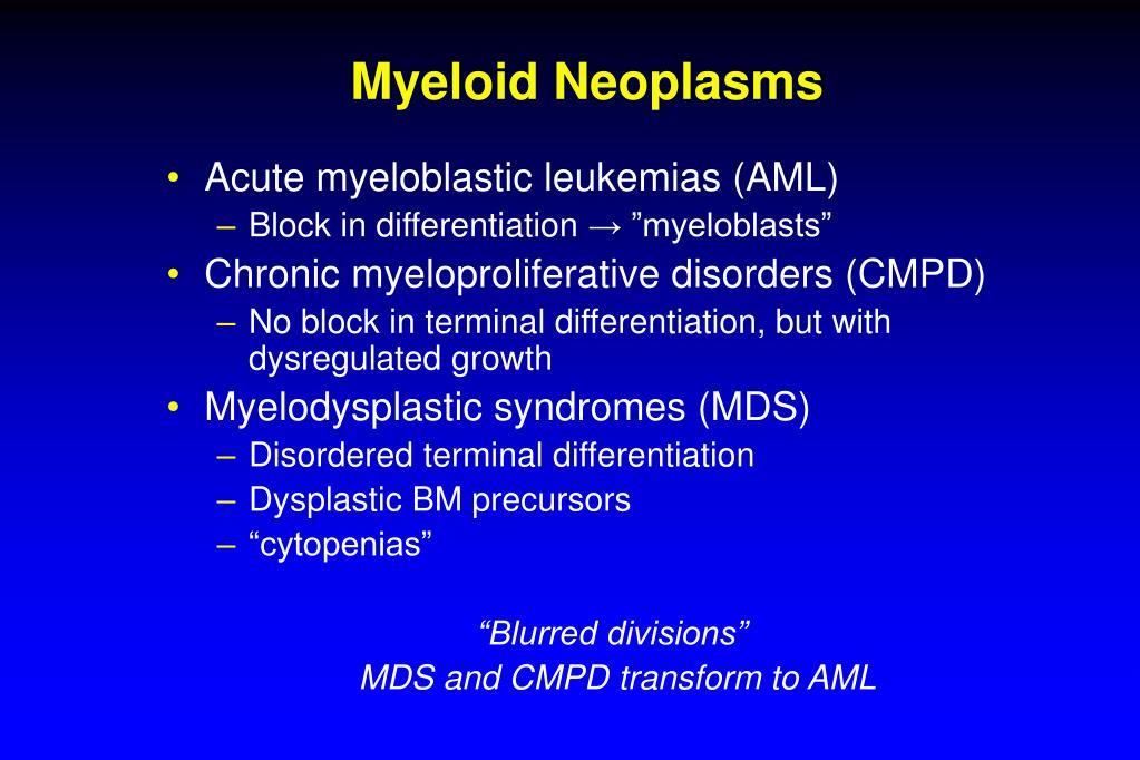 Myeloid Neoplasms