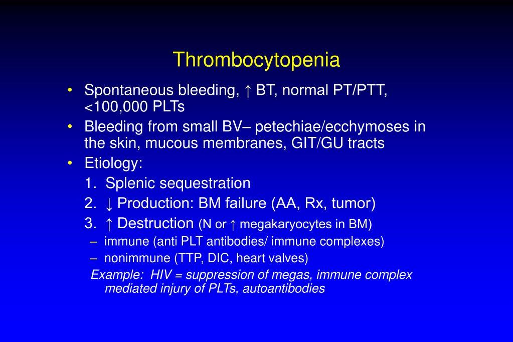 Thrombocytopenia