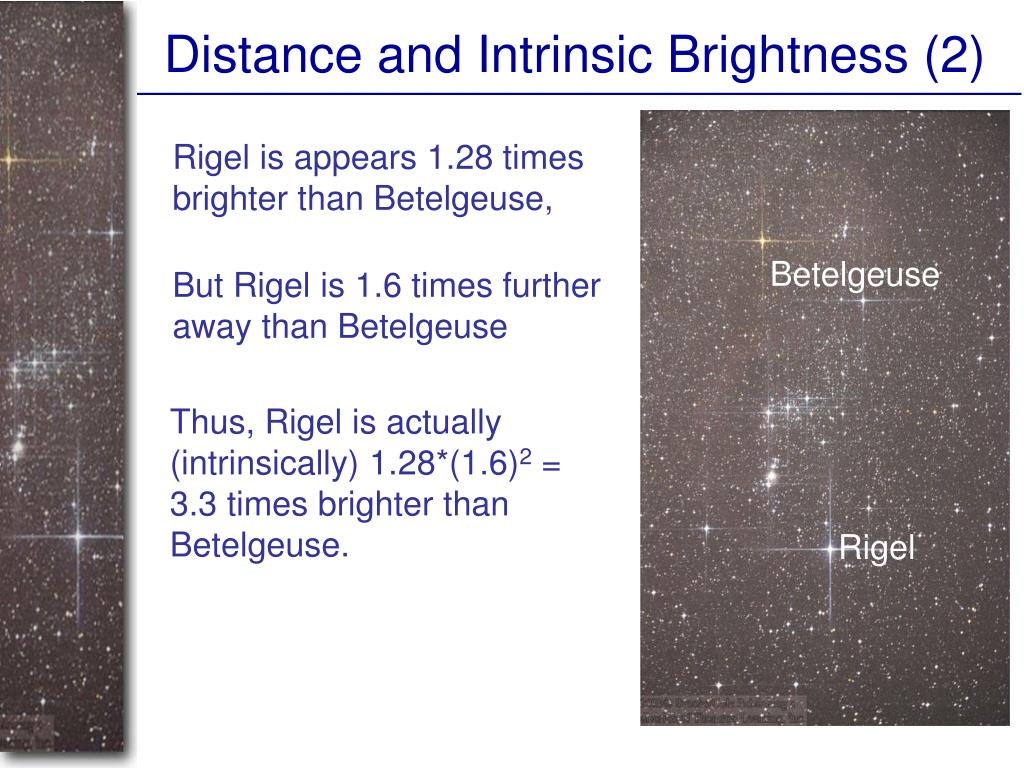 Distance and Intrinsic Brightness (2)