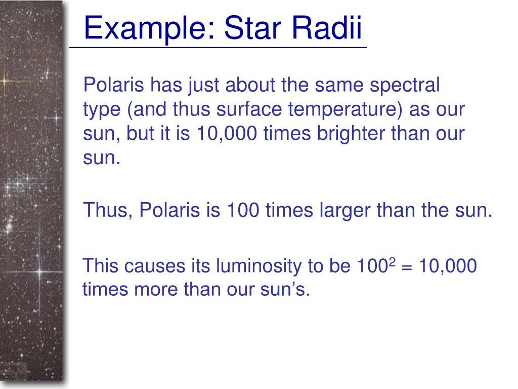 Example: Star Radii