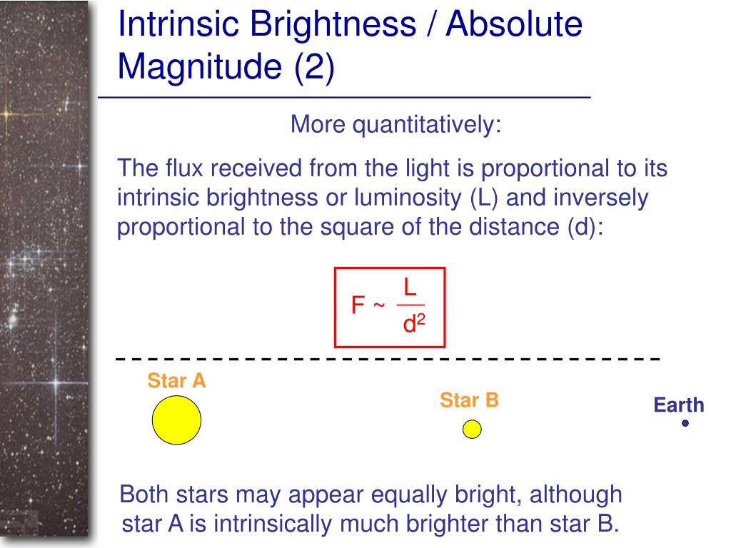 Intrinsic Brightness / Absolute Magnitude (2)
