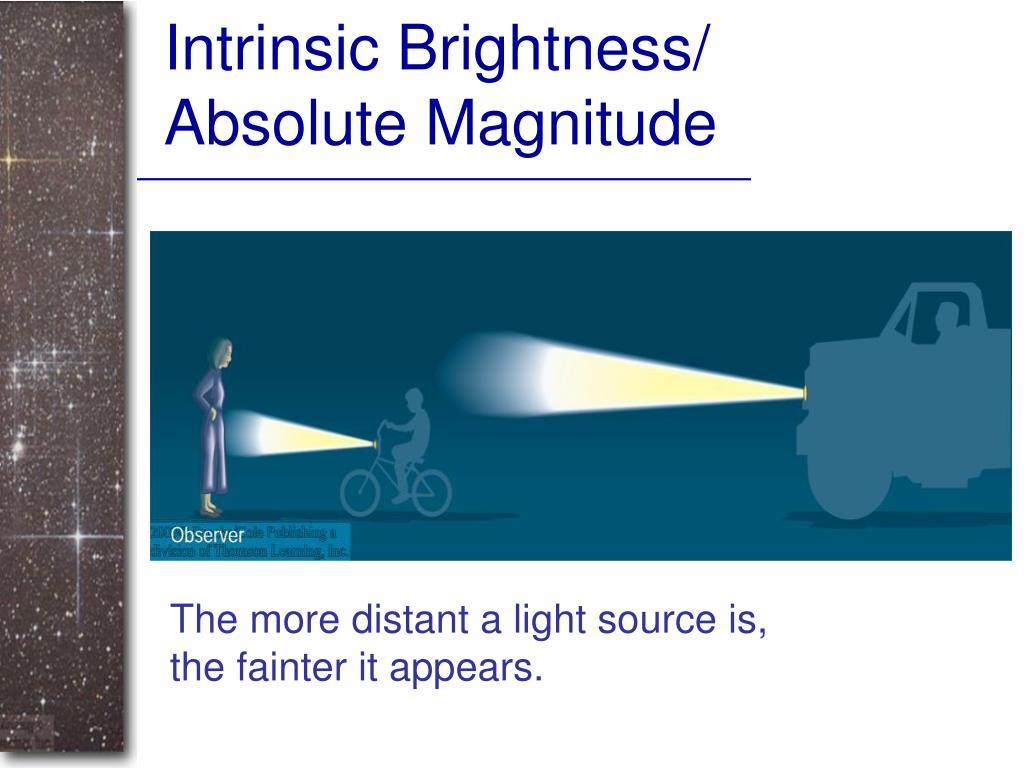 Intrinsic Brightness/