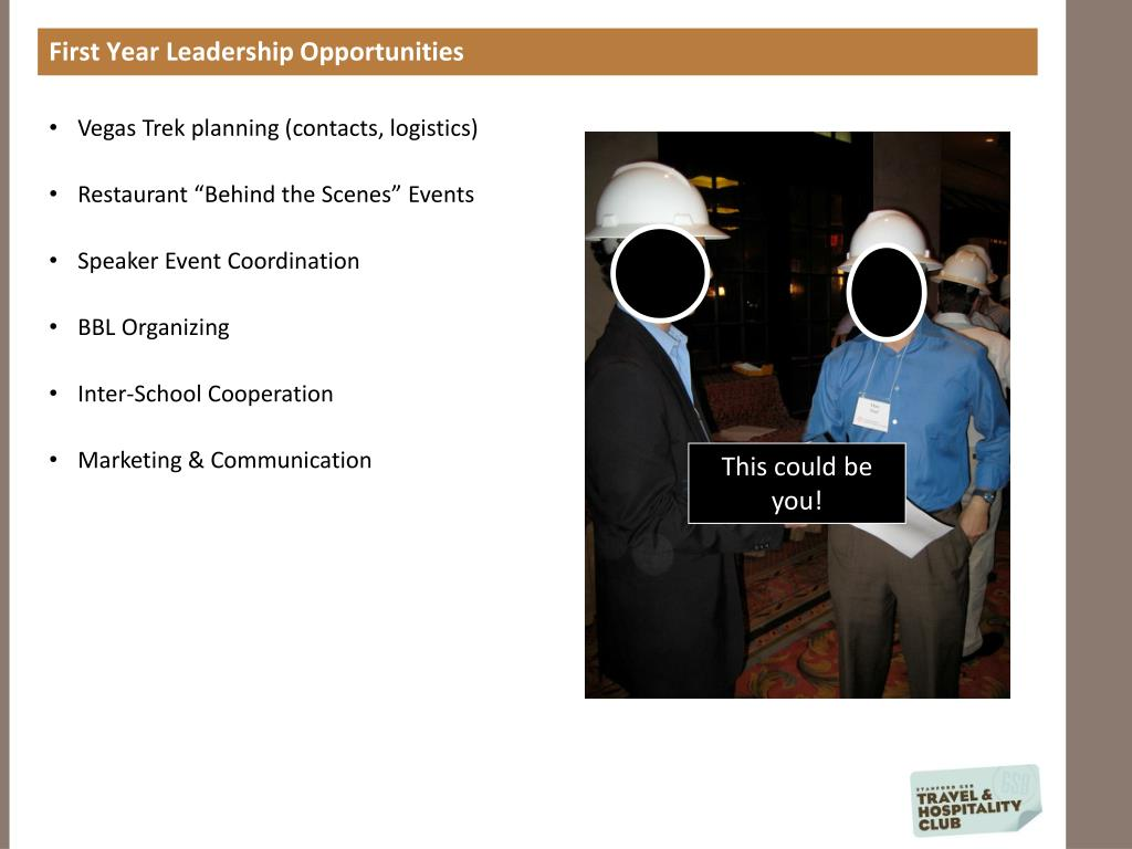 First Year Leadership Opportunities
