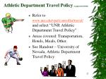 athletic department travel policy updated 10 10 06