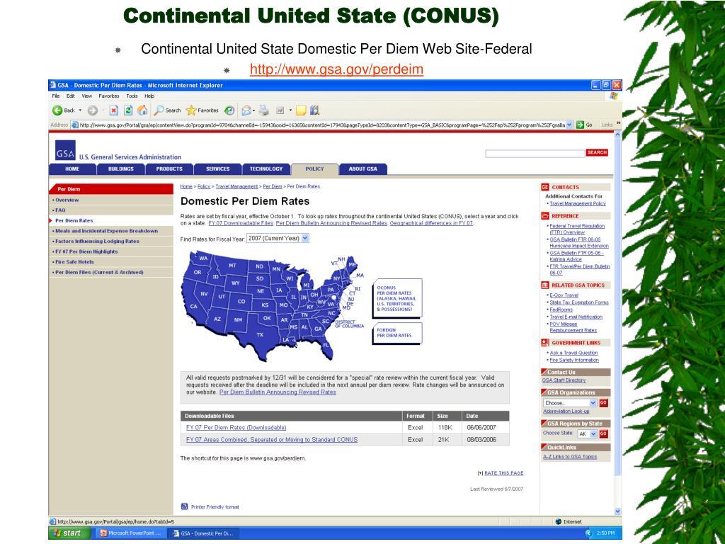 Continental United State (CONUS)