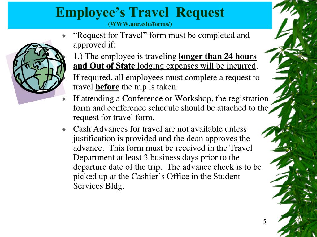 Employee's Travel  Request