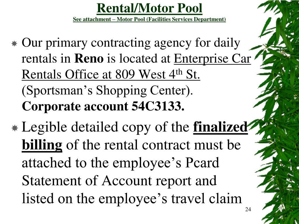 Rental/Motor Pool