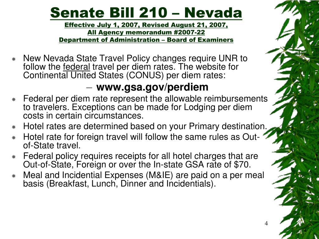 Senate Bill 210 – Nevada