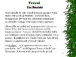 travel car rentals