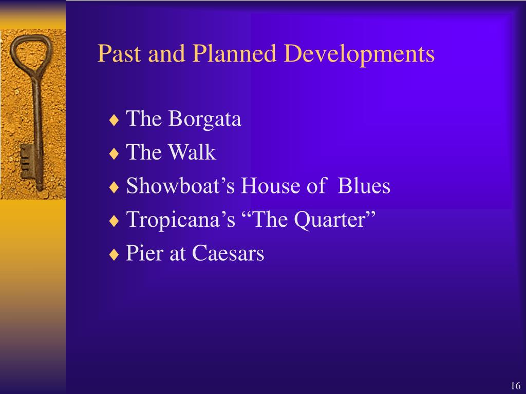 Past and Planned Developments
