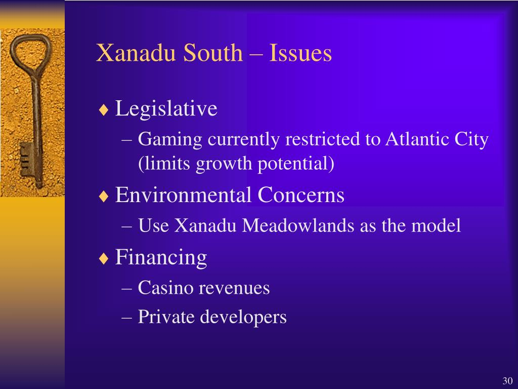 Xanadu South – Issues