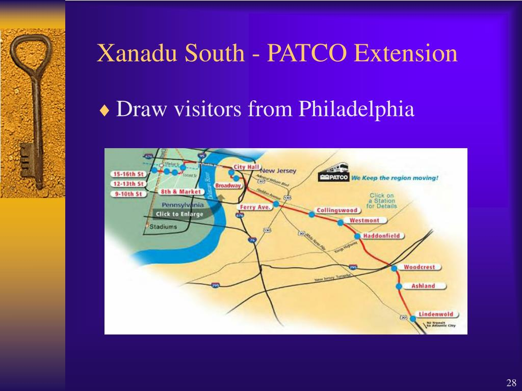 Xanadu South - PATCO Extension