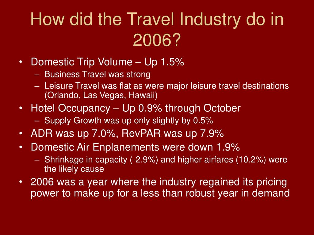 How did the Travel Industry do in 2006?
