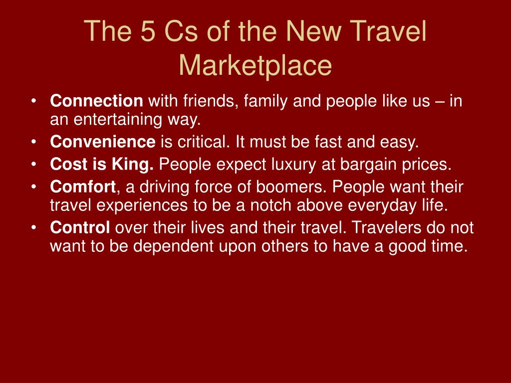 The 5 Cs of the New Travel Marketplace